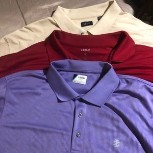 3 Izod golf shirts
